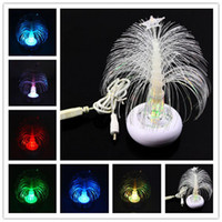 Christmas Tree No Yes 30pcs lot Hot USB 15cm Multi Color Changing Christmas Xmas Tree LED Light Lamp for Laptop