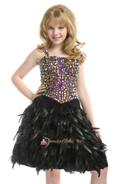 Wholesale Spaghetti diamond bodice penniform skirt knee length party formal occasion flower girls pageant dresses ball gowns perfect angels pre teen