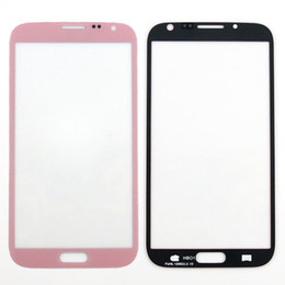 For Samsung Galaxy Note II 2 N7100 Outer Glass Lens Front Screen Digitizer Touch Screen Cover Pink