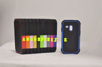 plastic+silicone  For Samsung For Christmas Hybrid Triple Layer Plastic with Silicone Hard Cover Case for Samsung Galaxy S3 Mini I8190 Free Shipping