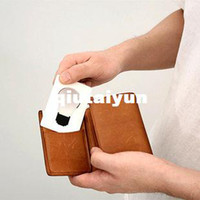 Wholesale Free shiping Novelty Items Funny LED flat foldable Pocket card Wallet Light credit card mini WY156