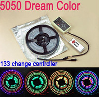 Wholesale Free M SMD RGB led m Flash LED Strip Light Dream change running flexible color controller Free Remote Utop2012