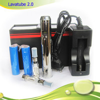 lavatube - Lava Tube V2 Variable Voltage v v mAh mAh Chrome Black Lavatube VV Battery E Cigarette