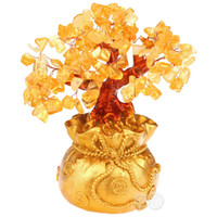Cheap Free shipping* Yellow crystal lucky tree pachira crafts decoration home decoration bonsai Large decoration