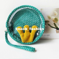 Cheap Free Shipping Personalized transparent small flower coin purse coin bag fashion storage case bag wrist length key wallet