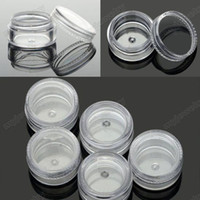 Wholesale Storage Boxes For Bottles - 12pcs Clear Empty Pot Jar Storage Case Bottle Jewelry Box Container For Nail Art Trinket [JA05003*12]