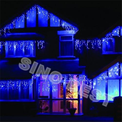 Elegant Free Shipping 224 LED 6M Icicle Fairy Lights For Garden Outdoor Christmas  Xmas Holiday Wedding Party New Year Decoration Lighting Connector