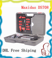Wholesale 2013 Top Rated Professional Original MAXIDAS DS708 scanner update via internet Multi language ds708 dhl