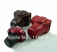 Wholesale High Quality Leather Camera Case Bag for Canon D D D D D mm lens Camera