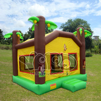inflatable bouncer - YARD cheap jungle inflatable bouncer jumper bounce house bouncy castle moonwalk playground toys game with blower