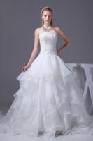 Wholesale Flat collar applique adornment gauze fabrics wedding dress