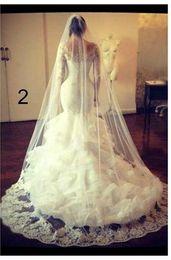 Beautiful Sexy V-Neck Lace Long sleeve Applique Beaded Mermaid Wedding Dresses