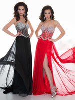 Reference Images Sweetheart Chiffon Shining Sweetheart Neckline Exquisite Sequined Corset Bodice Floor Length Side Slit Can Be Customized Fast Delivery Chiffon Prom Gowns