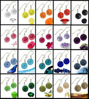 Wholesale New MM SHAMBALLA Austrian crystal disco beads hook earring pairs