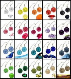 Wholesale New MM SHAMBALLA Austrian crystal disco beads hook earring pairs