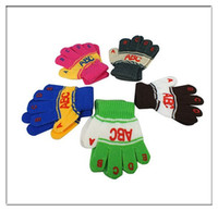 Unisex abc letters - Kids Baby Toddler ABC Letters Mittens Five Finger Gloves Winter Warmer Children Gifts