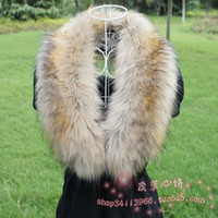 Wholesale Fox fur collar fur scarf raccoon fur wool muffler scarf vigoreux cap of cape multicolor