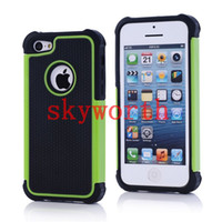 Wholesale Hybrid Shock Proof Rugged Rubber Triple Layer Hard Case Cover for iPhone S C iphone Plus Samsung Galaxy S4 S5 S6 Edge Note
