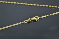 Wholesale 18k Gold Color Lobster Chains Fit Fashion Necklace Pendant quot per Piece Jewelry Findings pc per