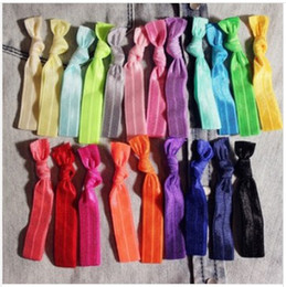 Wholesale Interchangeable Chevron Hair Tie Ponytail Holders Stretchy Elastic Headbands Knitted Ties Assorted Rainbow Set Hair Accessory Color