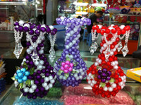 beaded craft kits - Diy handmade beaded material kit finished products vase crafts home decoration