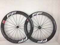 Wholesale Matte black mm F6R clincher carbon road bike wheels C FFWD racing bicycle wheelset
