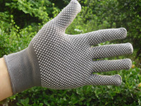 Wholesale Workshop gloves Nylon clean point plastic Safety Breathable Labor driving gardening Don t shed hair pairs