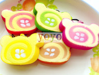 For Apple kawaii squishy - New cm Kawaii Squishy Cake Wolesale Japanese cartoon Egg Roll Cell Phone Charm Squishy Bread Phone Accessories