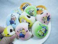 Wholesale 5cm Kawaii Despicable Me Mobile Phone Straps Squishies Bread Food Bag Charm Rare Rare Squishy Bun