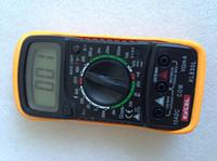 venda por atacado digital ammeter and voltmeter-LCD multímetro digital AC DC VOLT Medidor voltímetro Ommetros Amperímetro XL830L