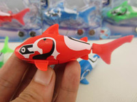 Wholesale Robo Fish Shark Water Activated Magical Turbot Fish Electronic Pet Fish Toys Magic Swimming Fish Kids Christmas Gift colors Top Quallity