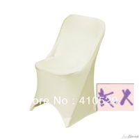 Wedding Chair Spandex / Polyester  Lycra Folding chair cover Ivory Spandex chair cover wedding chair cover Folding chair covers for Beach