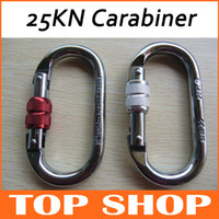 Wholesale O Climbing Carabiner Thread Locking KN CE CSA Steel Rock Climb Big Wall Climbing Canyoneering Mountaineering Carabiners