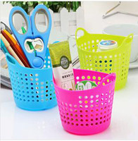 Wholesale Storage Baskets Portable Useful Mini Desk Plastic Organizer Decor Stationery Storage Basket