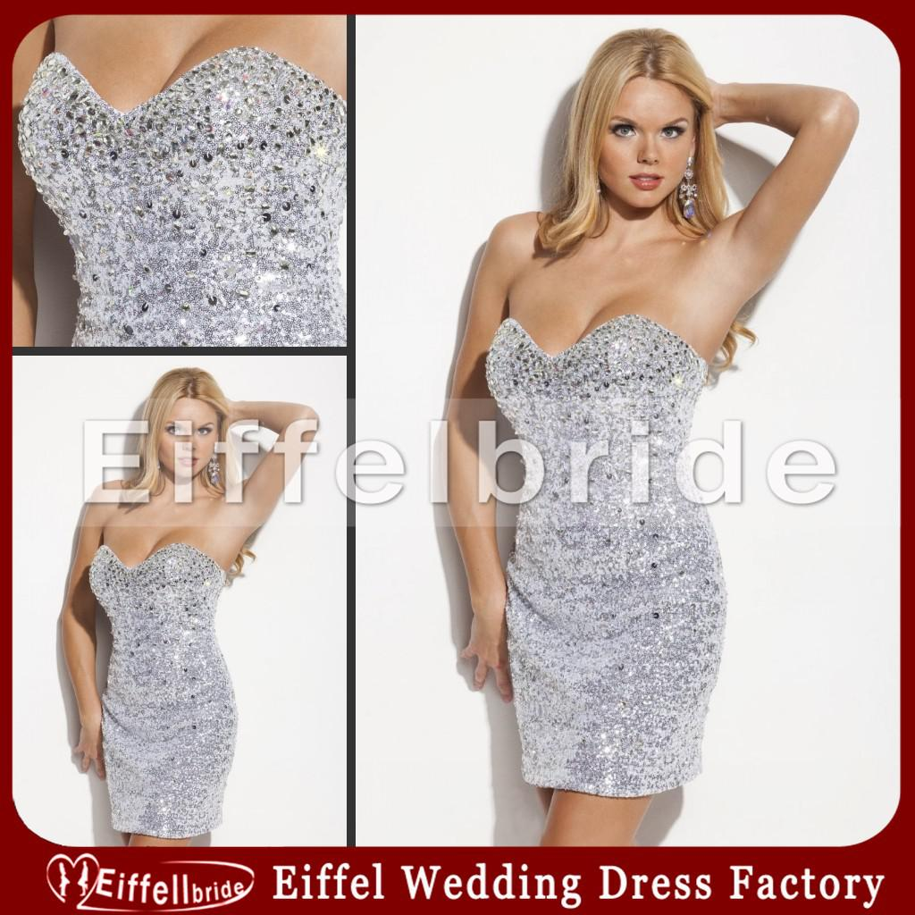 Short Mini Sexy Bling Bling Cocktail Dress Sequins Beads ...