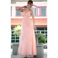 A-Line Modern Ruffle cute pink tulle jeweled straps holiday part dresses for teen A-line net beaded ruffle custom made modern floor length prom dresses