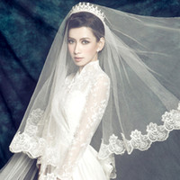 Wholesale Thousands of colors the bride bulk yarn new wave lace wedding veil long trailing wedding dress accessories