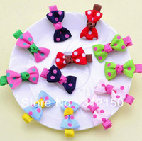 Wholesale 100pcs pairs bowknot hair clip Baby Girl hairpin Girls Cute hairwear hairpin Spot Bow pin