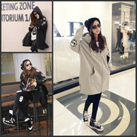 Wholesale Qiu dong season new style dress Fashion personality skulls hooded casual clothes color black or gray