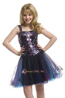 Spaghetti Beads Organza Spaghetti diamond crystal bodice organza knee length party formal dance flower girls kids pageant dresses ball gowns perfect angels pre-teen