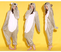 Wholesale Cartoon Animal Grey Koala Adult lOnesies Onesie Pajamas Kigurumi Jumpsuit Hoodies Sleepwear For Adults Welcome Order