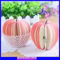 Wholesale Children s creative personalized stationery office supplies stationery DIY paper notes apple pear fruit notes this