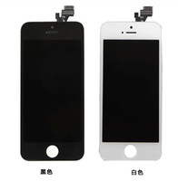 For Apple iPhone   original iphone 5 LCD+Touch Panel replacement assembly iphone LCD+ touch screen assembly with digitizer,front camera,earphone,key-press