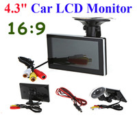 Wholesale High Resolution quot Color TFT LCD Car Rearview Monitor for DVD VCD Camera VCR video Super Slim PAL NTSC DC V