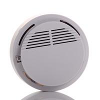 Alarma de humo Humo del incendio alarma del <b>sensor</b> detector de Wireless Home Security System blanca 2pcs / lot dropshipping