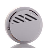 Wholesale Wireless smoke alarm Fire Smoke detector sensor alarm Home Security System White dropshipping