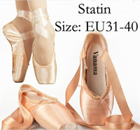 Wholesale Elegant Statin Pink Ballet Shoes Lace Up Pointe Shoes Sneakers for Ballerina SH928
