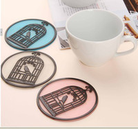 Wholesale European style garden Birdcage Pattern design Insulation Coasters anti slip pads Bowl Disc cup mats home supplies