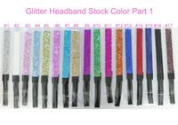 Wholesale different colors Glittery Headband for Sports Dance Softball Volleyball Basketball Yoga Run Sparkle headband