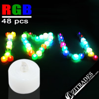 Wholesale ZITRADES of Rainbow Multi Color Changing LED Flameless Tealights LED Candles Lights For Christmas Party Wedding BY ZITRADES